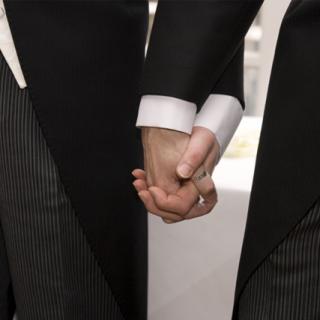 Civil partnerships - men holding hands