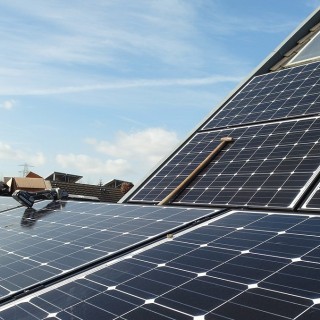 Solar panels on home room