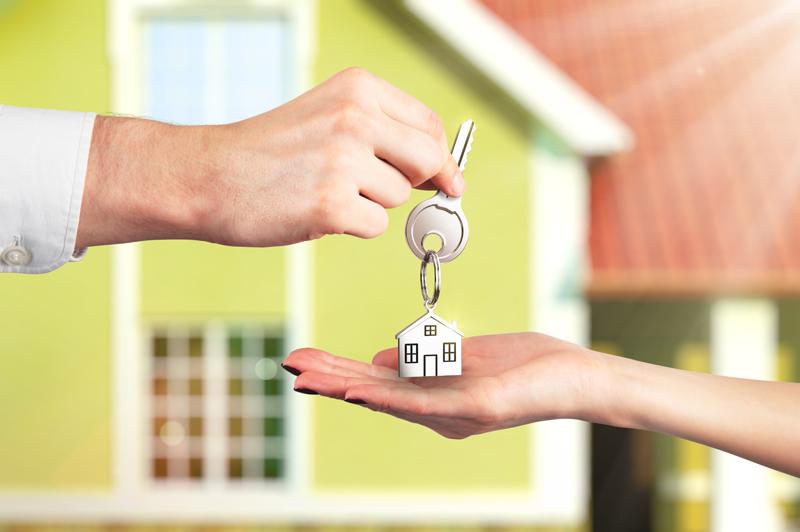Handing house keys over