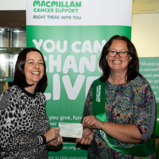 Coodes Solicitors has raised £15,000 for Macmillan Cancer Support