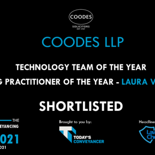 Coodes Solicitors shortlisted for British Conveyancing Awards