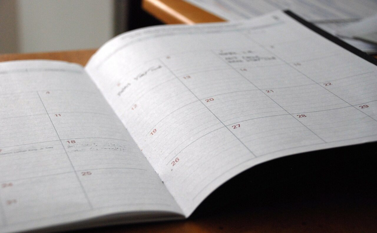 Calendar representing executor's year
